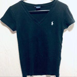 Price ⬇️ Ralph Lauren Sport V-neck Black t sz med